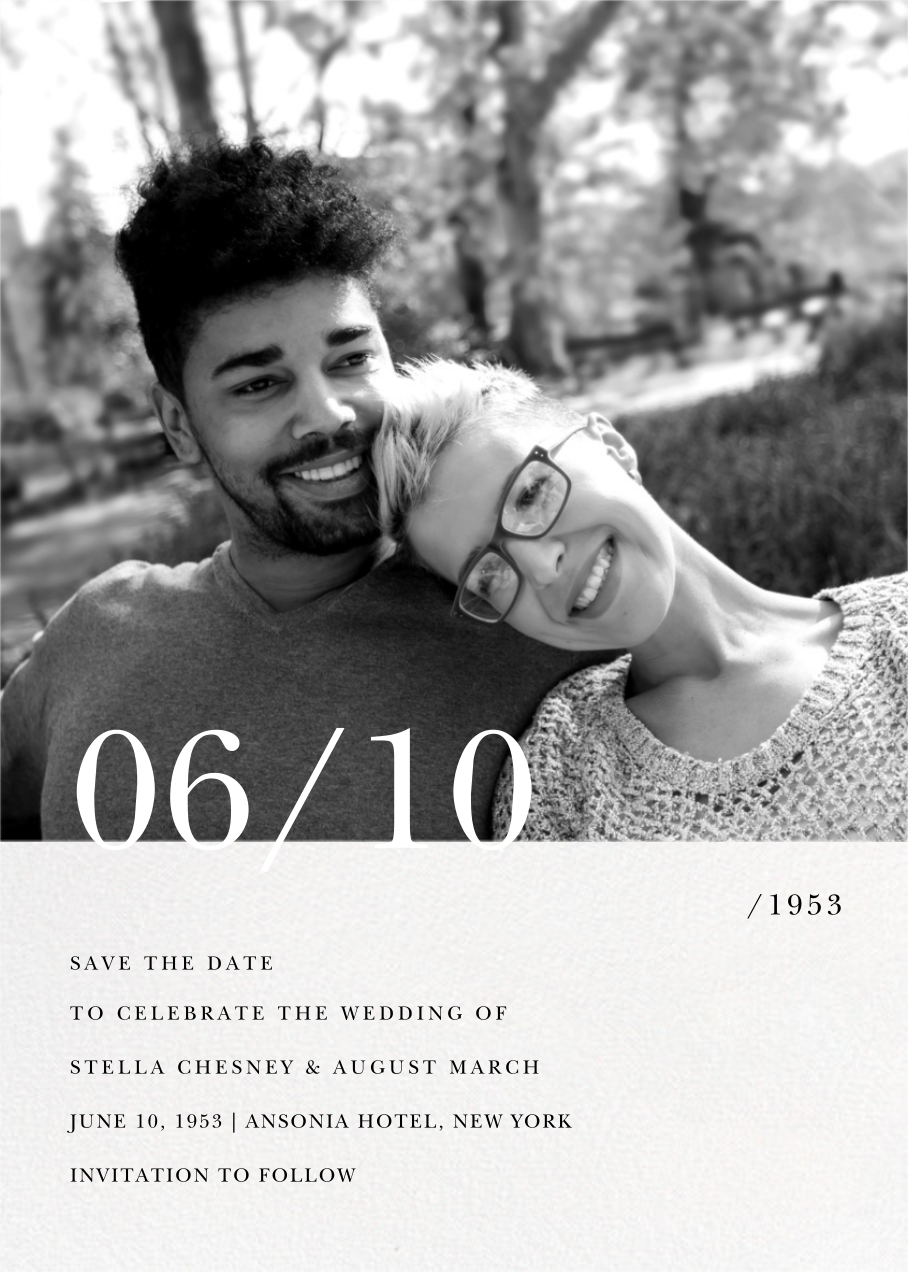 Here and Now - Paperless Post - Save the date