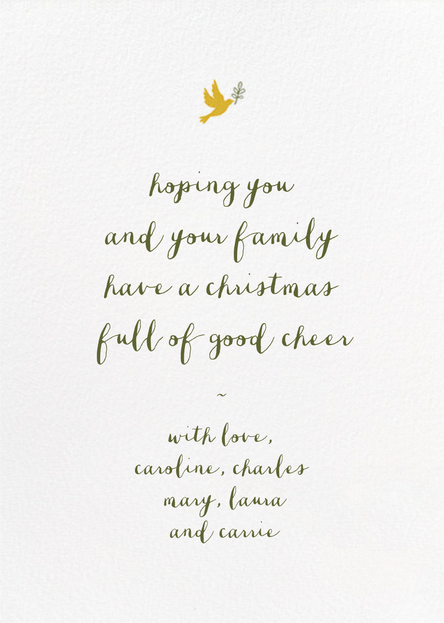 Written in Tinsel - White - Paperless Post - Christmas - card back