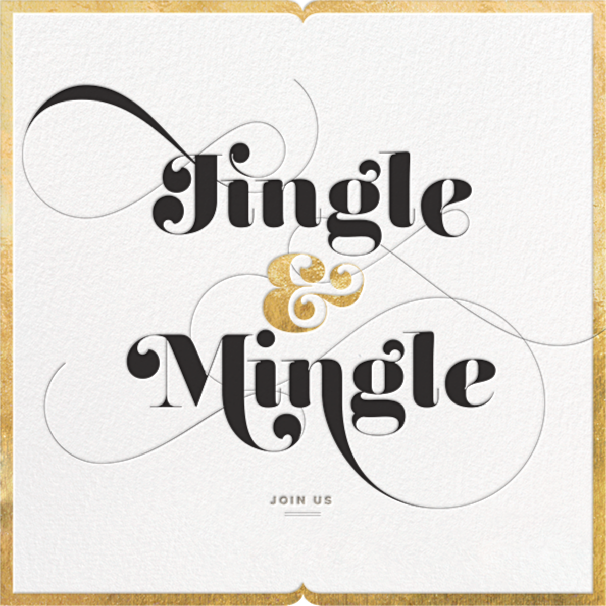 Jingle & Mingle - Gold - bluepoolroad - Holiday save the dates
