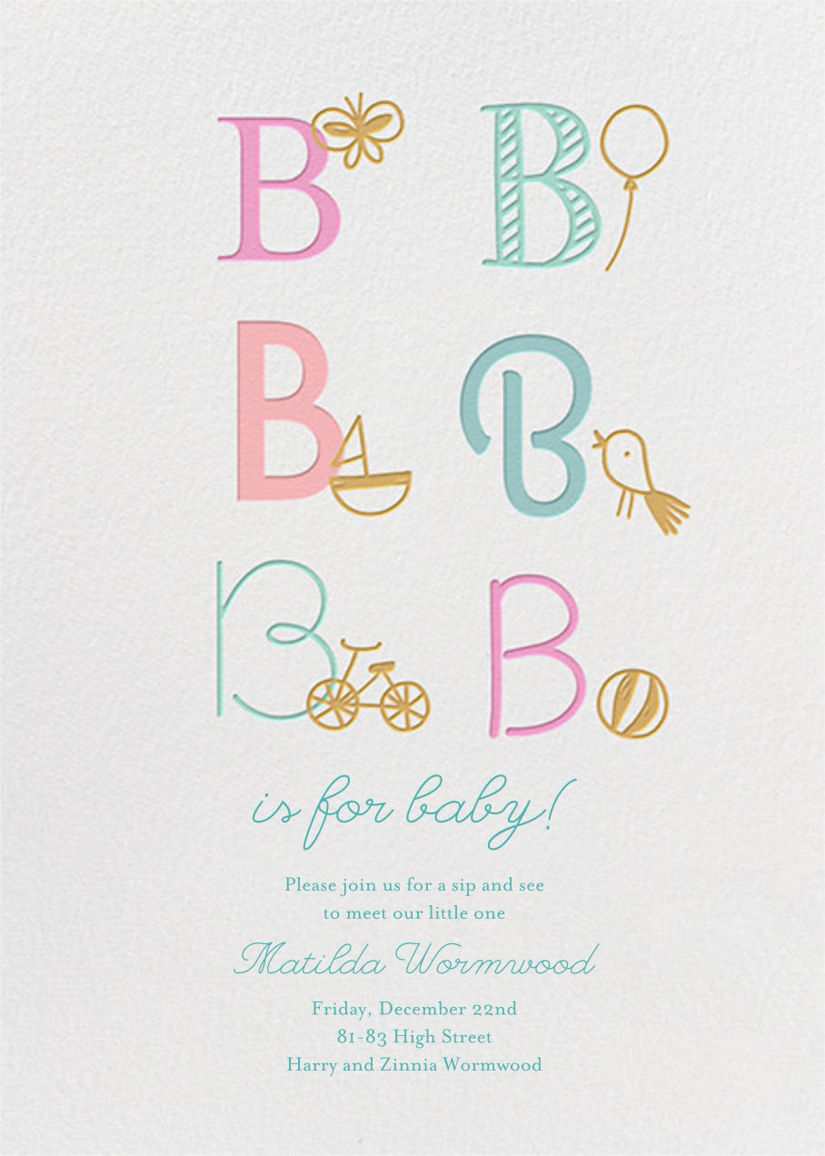B Is For Baby - Little Cube - Baby shower