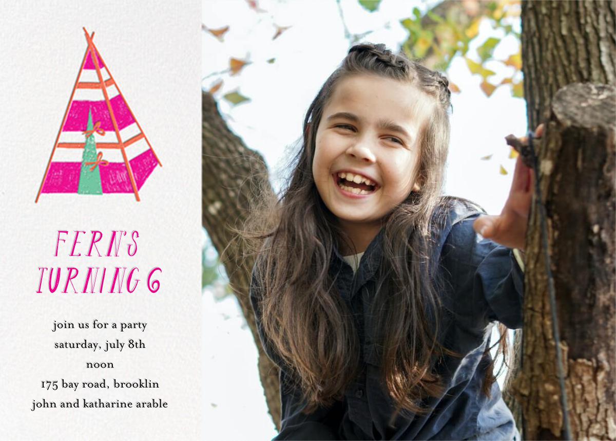 A Bear in the Tent (Photo) - Pink - Mr. Boddington's Studio - Kids' birthday