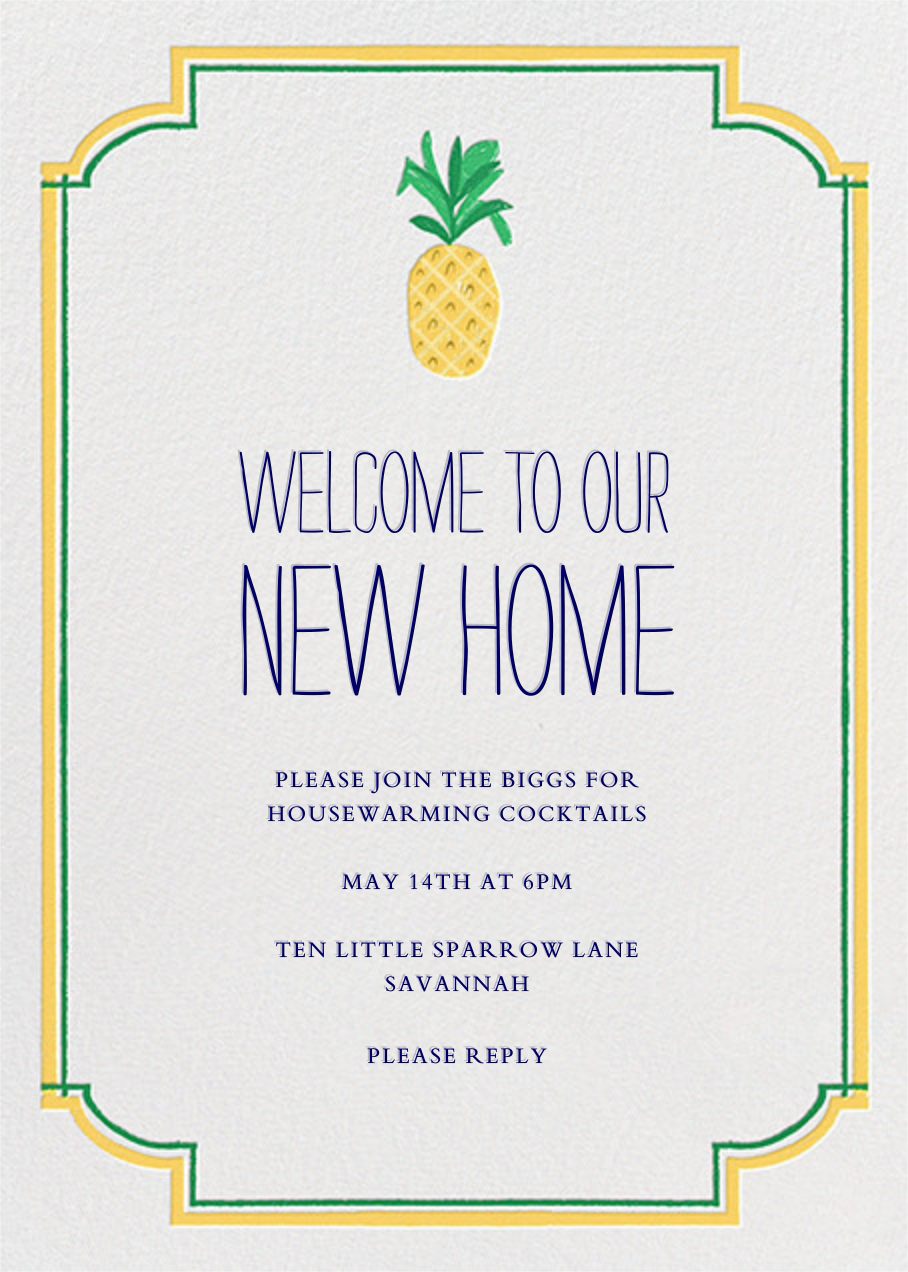 Welcome to Our New Home - Mr. Boddington's Studio - Housewarming