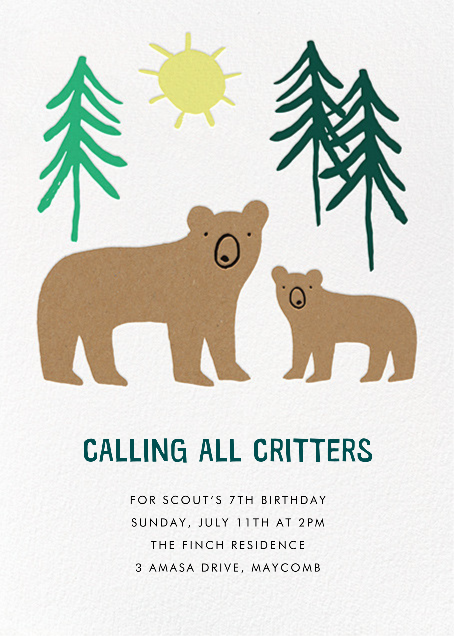 Bears in Mind - Meri Meri - First birthday and baby