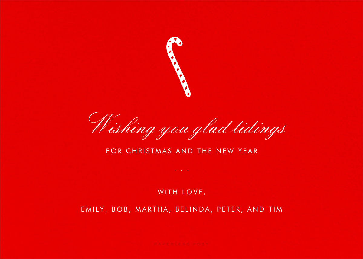 Full-Page Photo (Double-Sided) - Red - Paperless Post - Holiday cards - card back