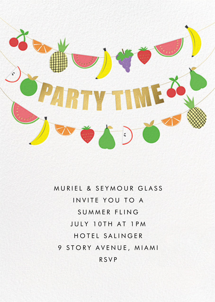 Fruit Bunting - Meri Meri - Summer entertaining