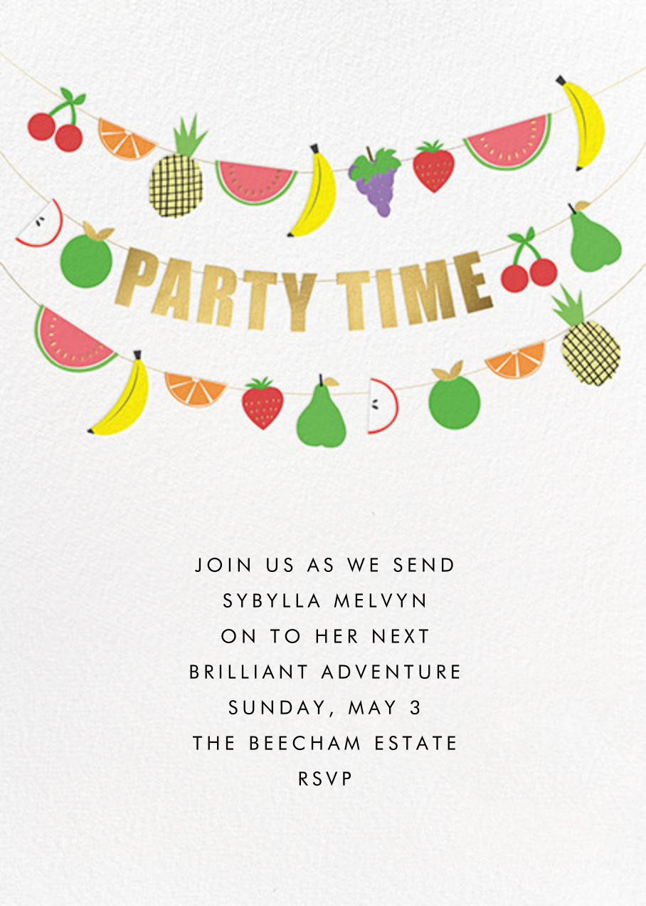 Fruit Bunting - Meri Meri - Fruity invitations