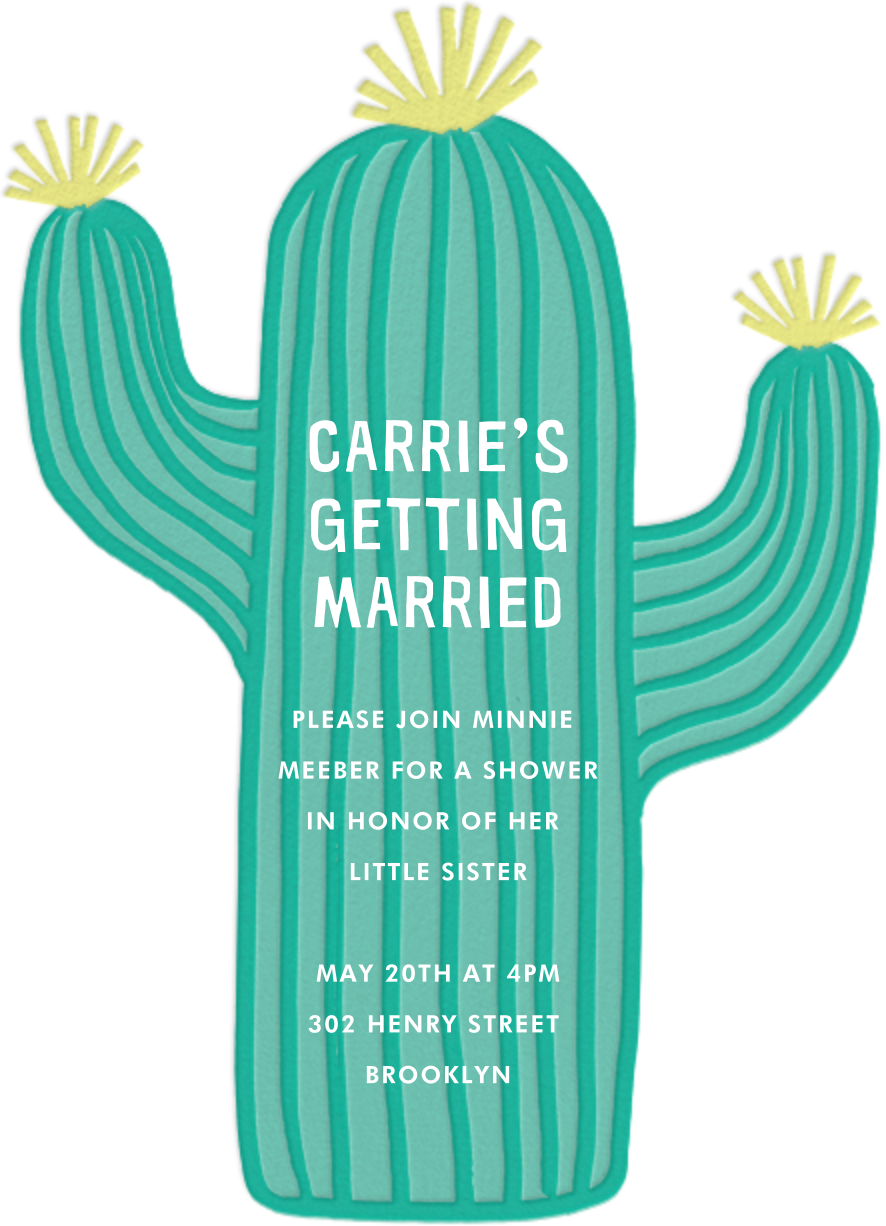 Cactus Hour - Meri Meri - Bridal shower