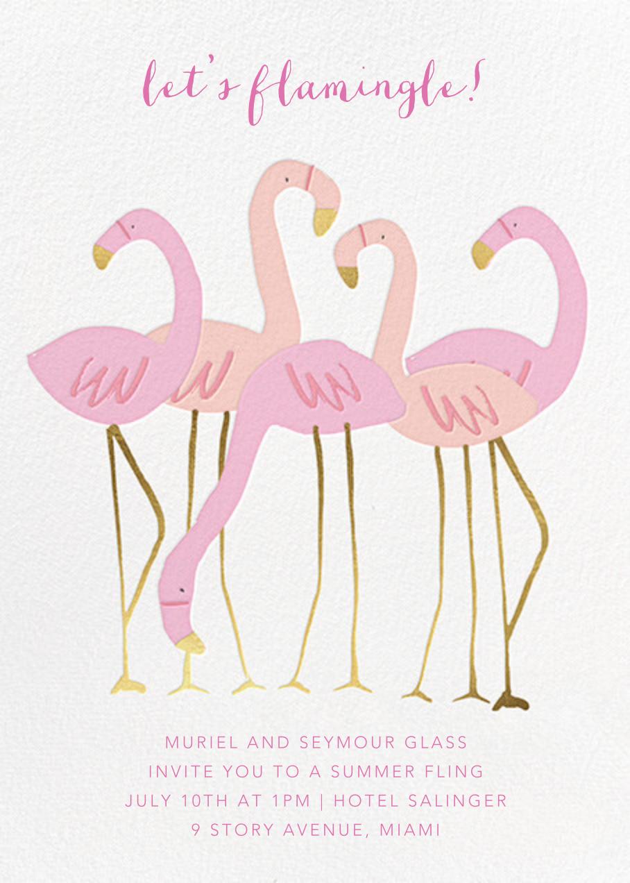 Let's Flamingle - Meri Meri - General entertaining