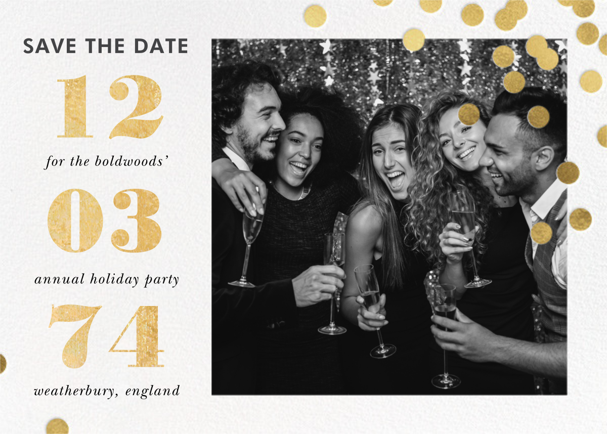 Confetti Ceremony - kate spade new york - Holiday save the dates