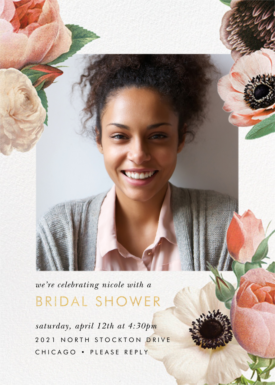 Floral Collage Photo - kate spade new york - Bridal shower