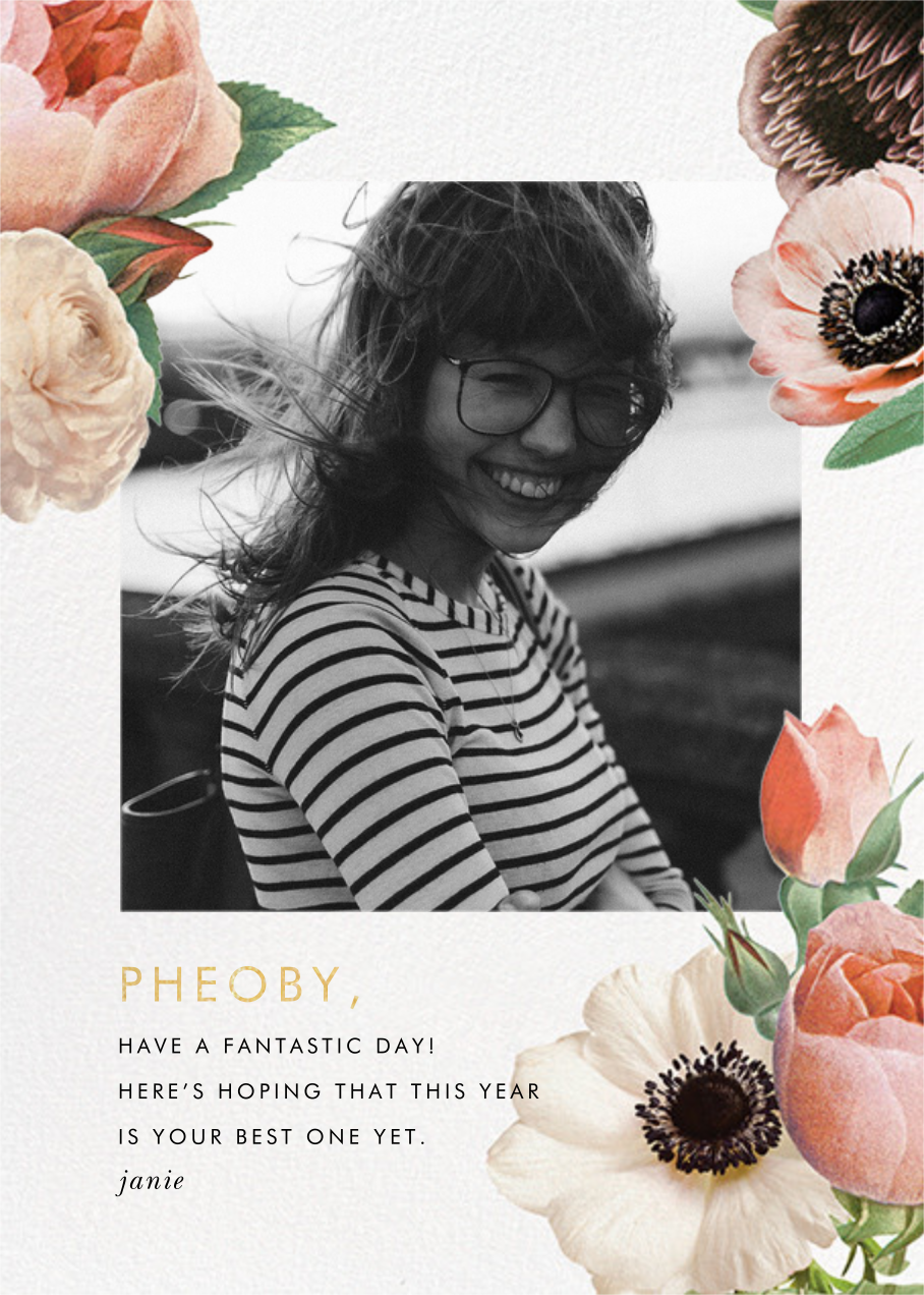 Floral Collage Photo - kate spade new york - Birthday