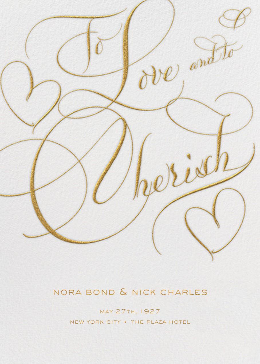 To Love And To Cherish - Ivory - Bernard Maisner - null