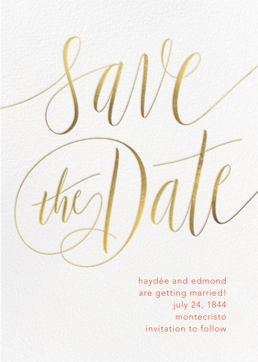Saint-Preux - Gold - Paperless Post - Party save the dates
