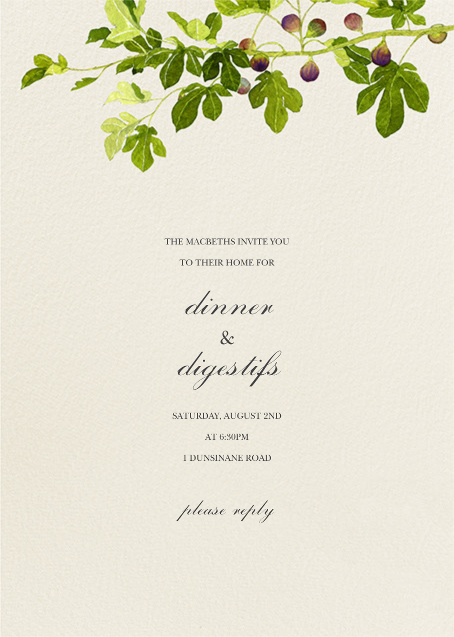 Fig Branches - Felix Doolittle - Dinner party