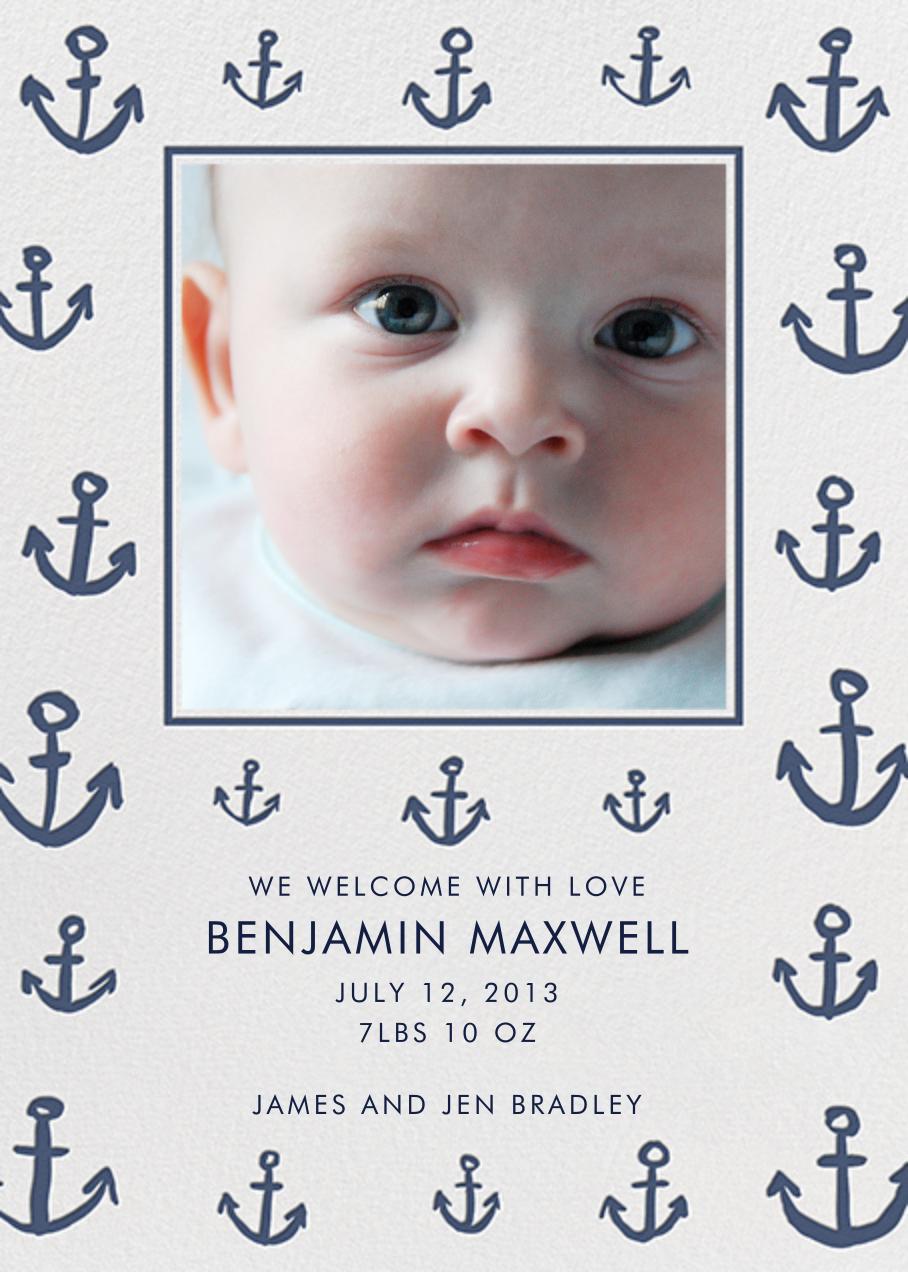 Maritime Photo - Blue - Linda and Harriett - Baby boy announcements
