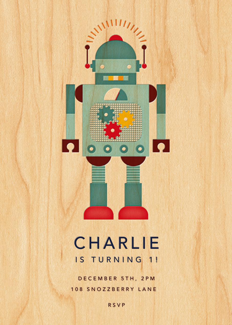 Retro Robot - Petit Collage - Kids' birthday