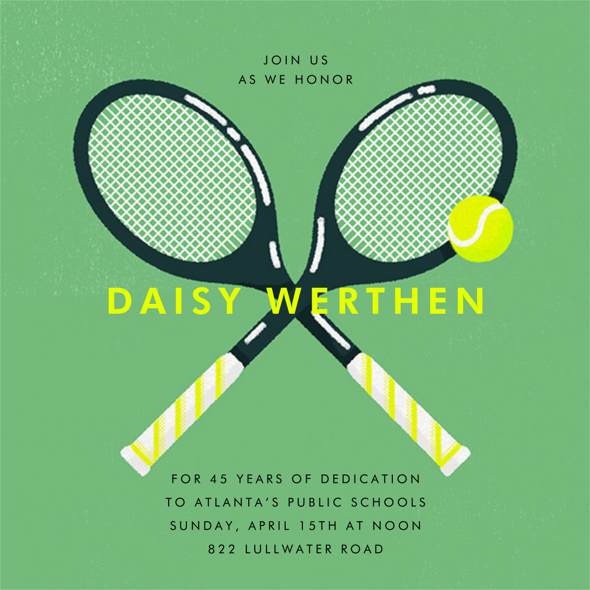 Mixed Doubles - Paperless Post - Retirement party
