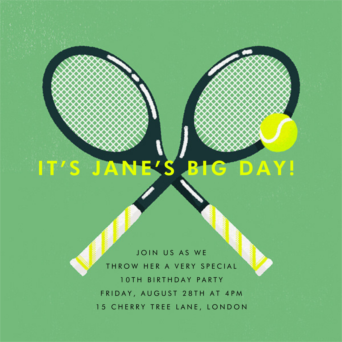 Mixed Doubles - Tennis - Paperless Post - Kids' birthday