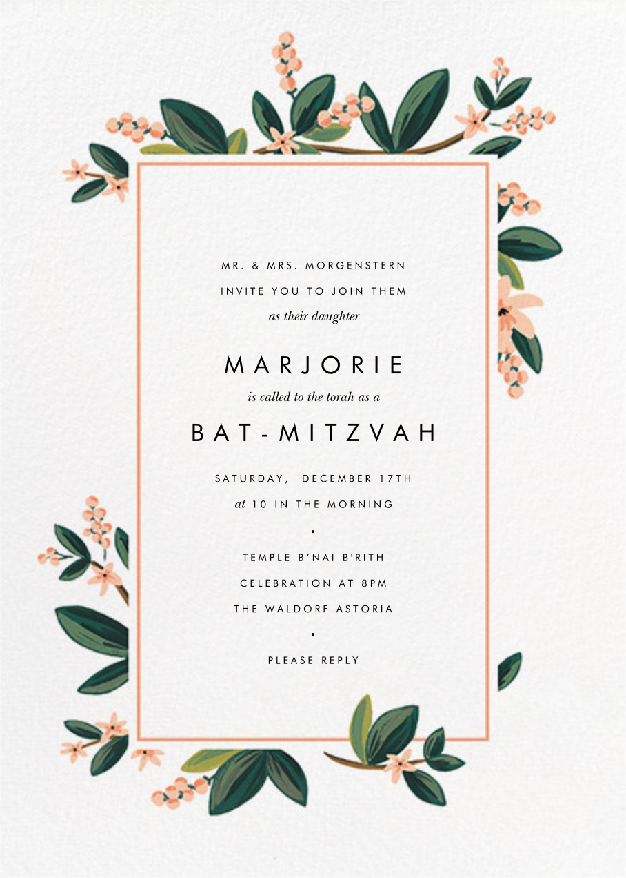 November Herbarium - Rifle Paper Co. - Bat and bar mitzvah