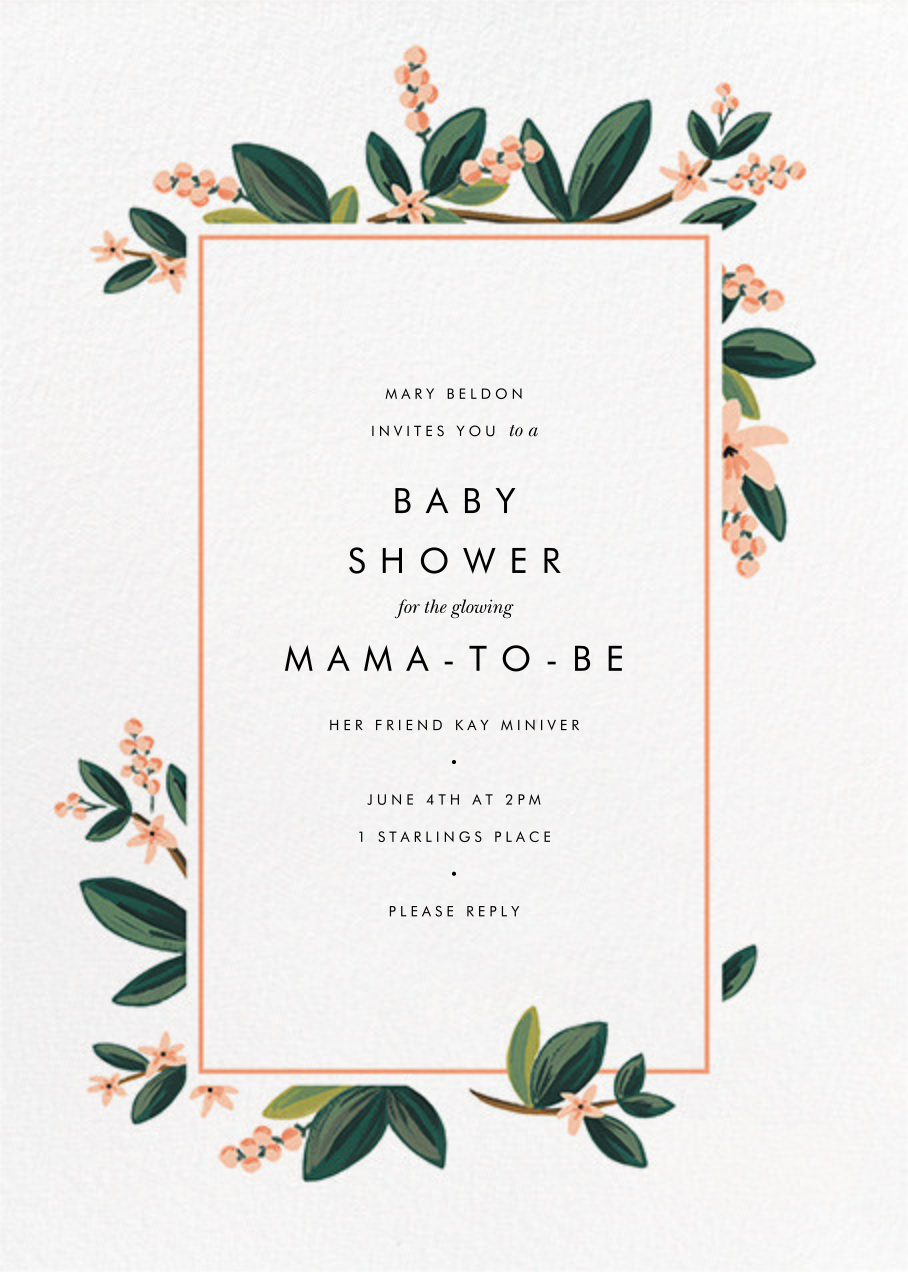 November Herbarium - Rifle Paper Co. - Baby shower