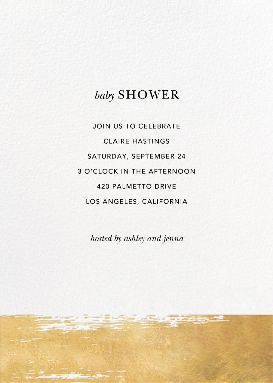 Simple Brushstroke - Sugar Paper - Baby shower