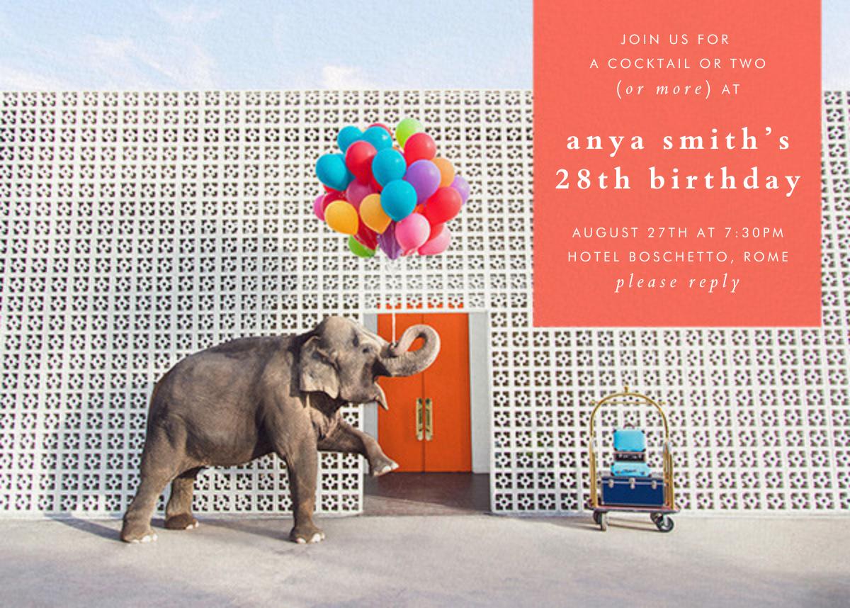 Elephant with Balloons I - Gray Malin - Adult birthday