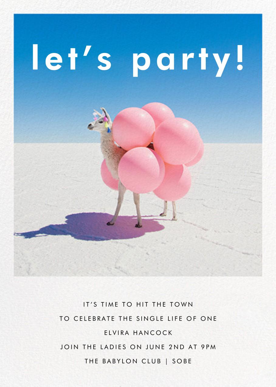 Llama with Balloons - Gray Malin - Bachelorette party