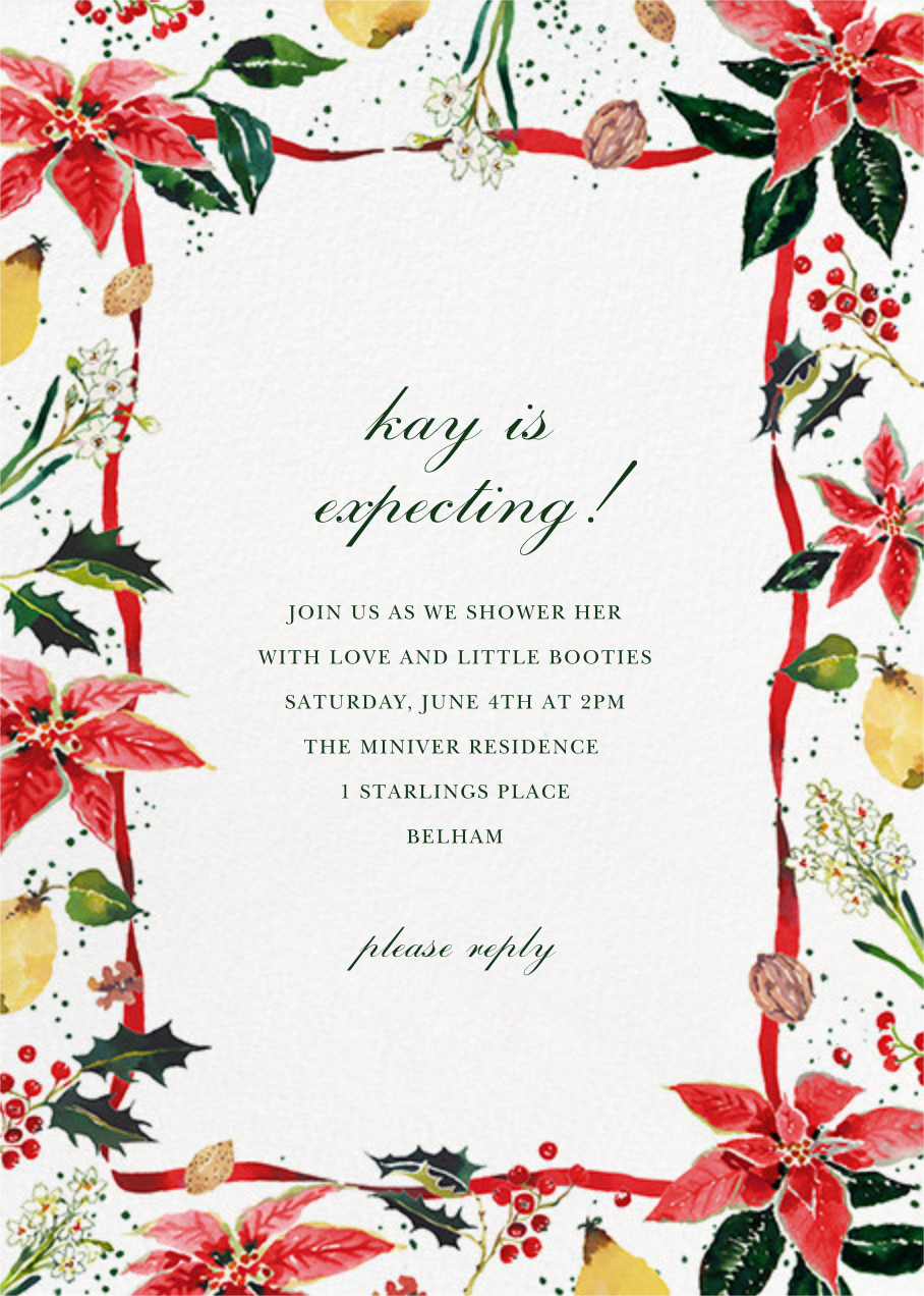 Holiday Harvest - Happy Menocal - Baby shower