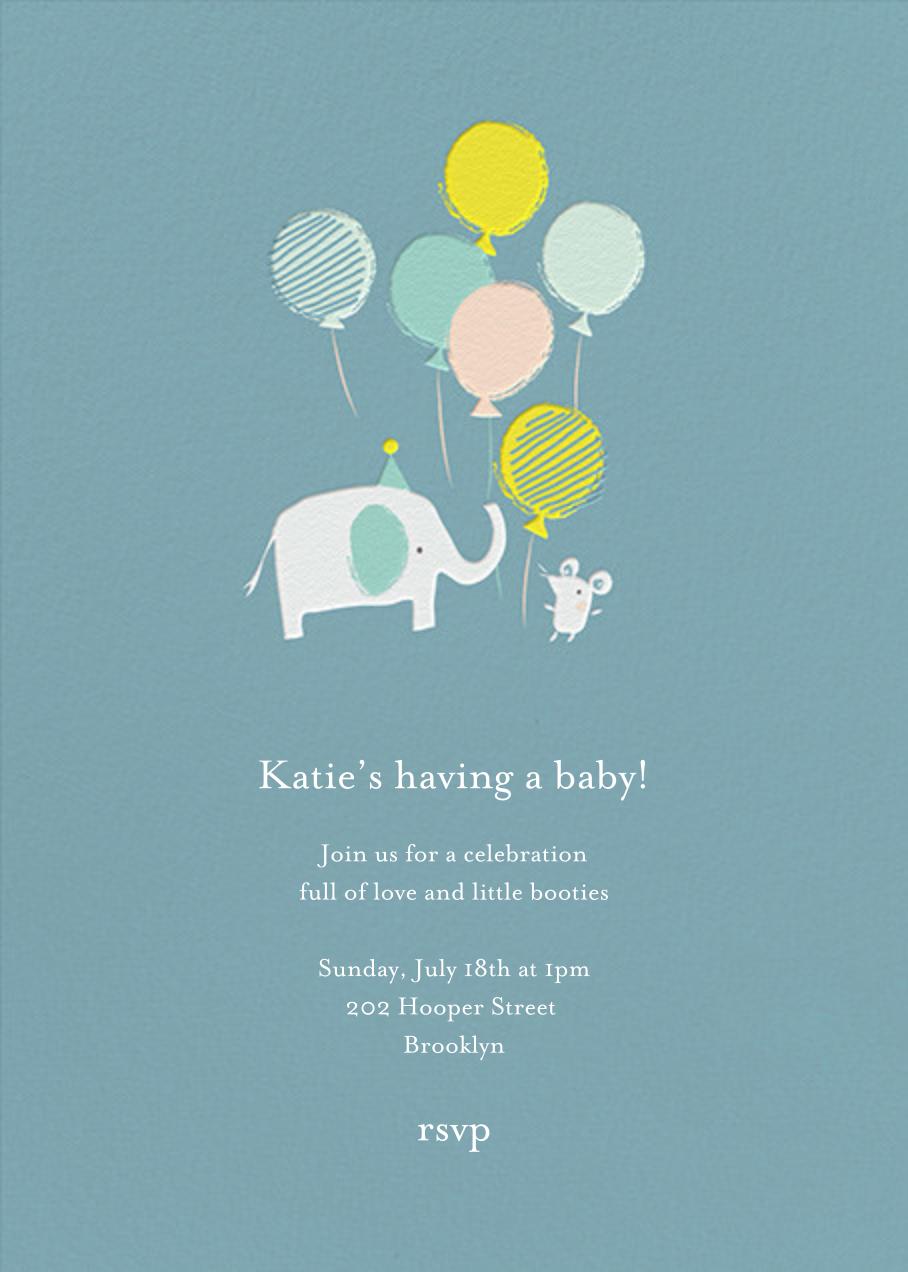 Ellie's Party - Blue - Little Cube - Baby shower