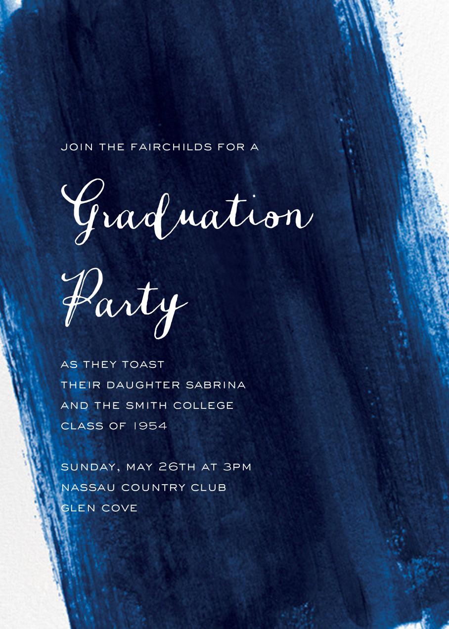Sapphire - Paper Source - Graduation party