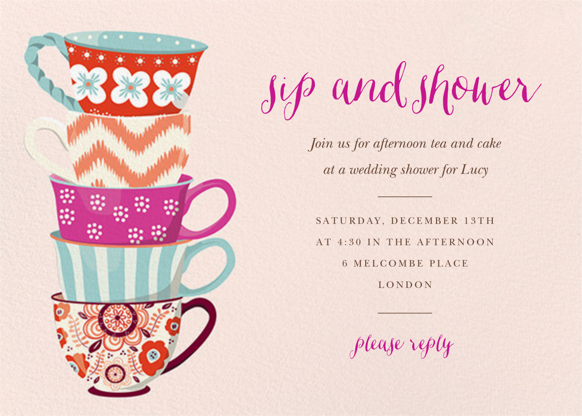 Tea Set - Paper Source - Bridal shower