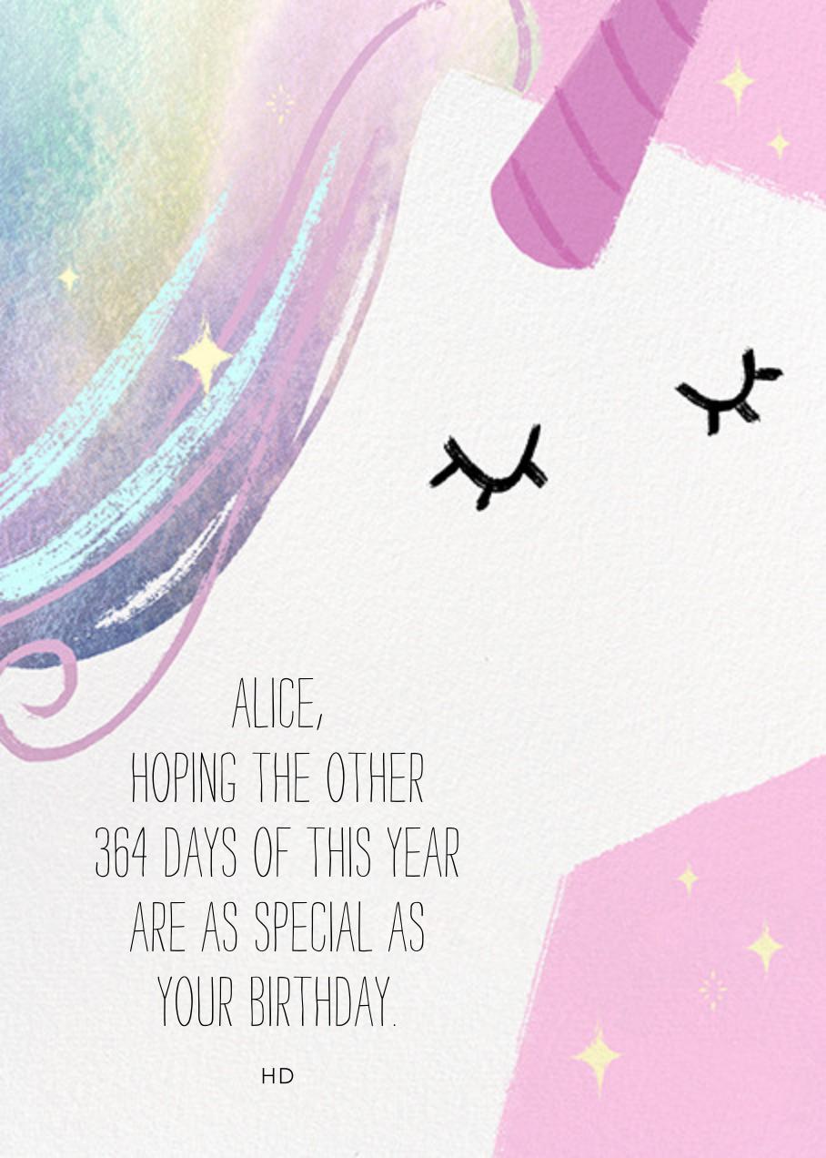Unicorn Hair - Paperless Post - Birthday