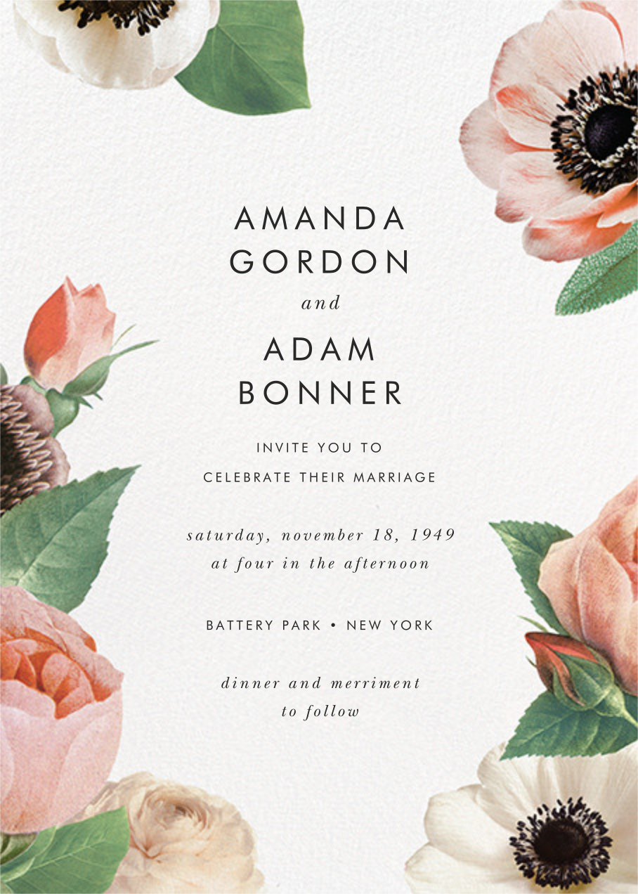 Floral Collage (Invitation) - kate spade new york - All