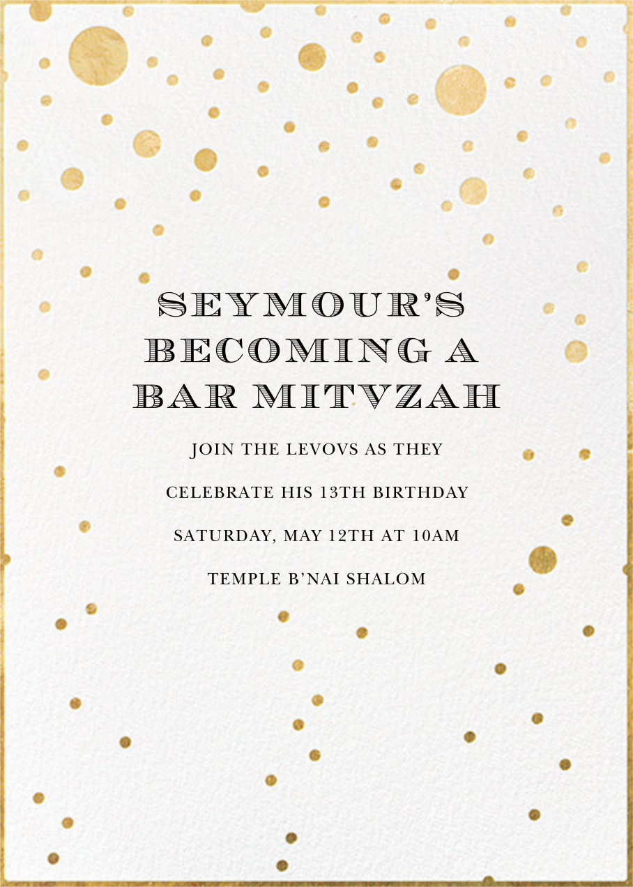 Champagne Bubbles (Single-Sided) - kate spade new york - Bar and bat mitzvah
