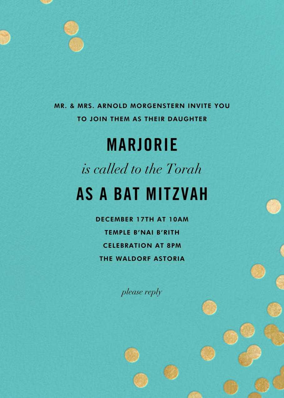 Confetti - Aqua/Gold - kate spade new york - Bat and bar mitzvah