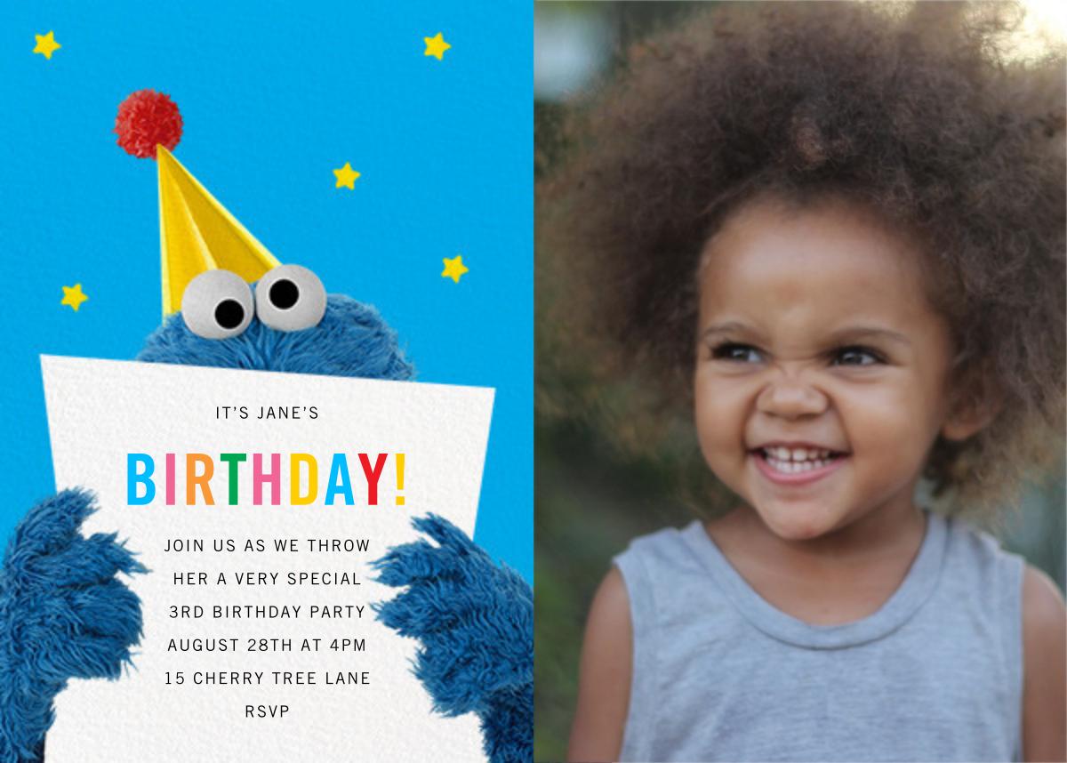 A Monster of a Birthday Photo - Sesame Street - Kids' birthday