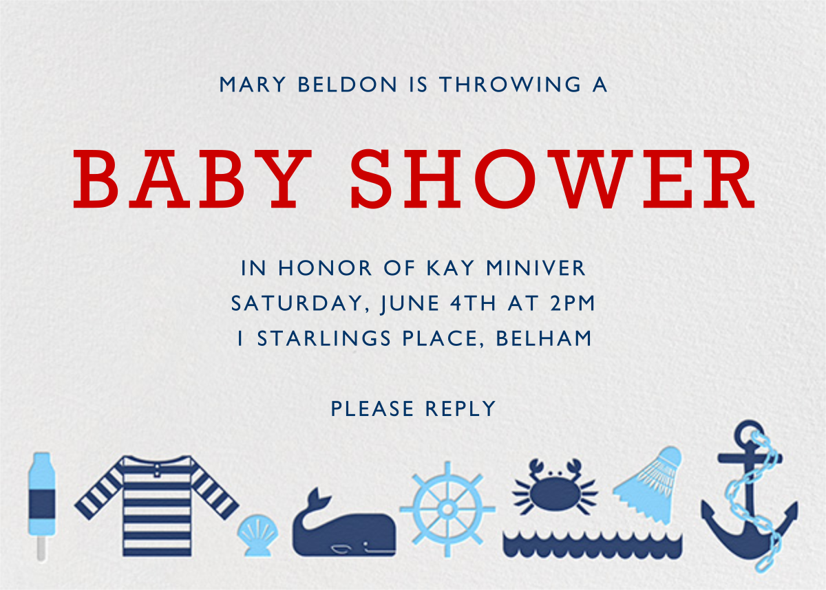 Day at the Marina - Jonathan Adler - Baby shower