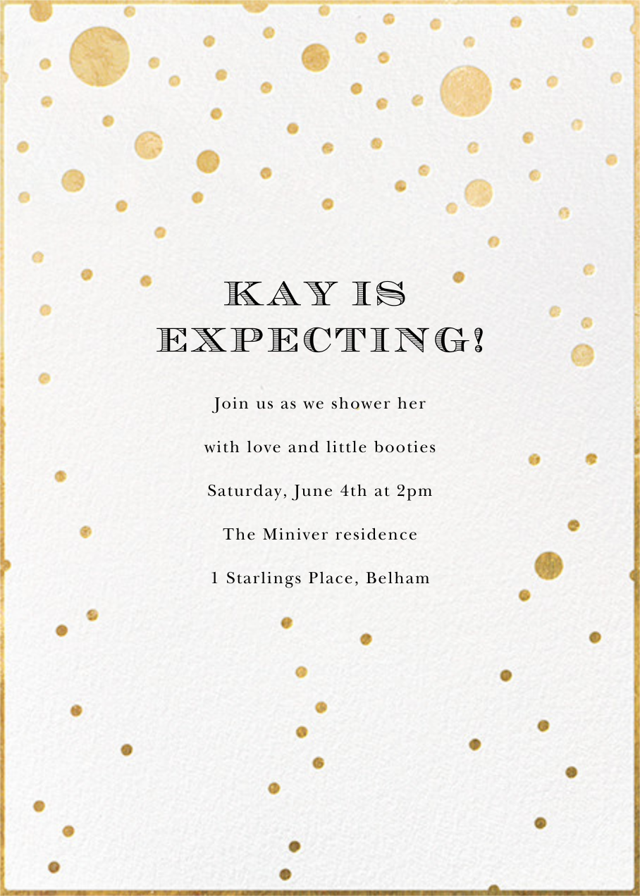 Champagne Bubbles (Single-Sided) - kate spade new york - Baby shower