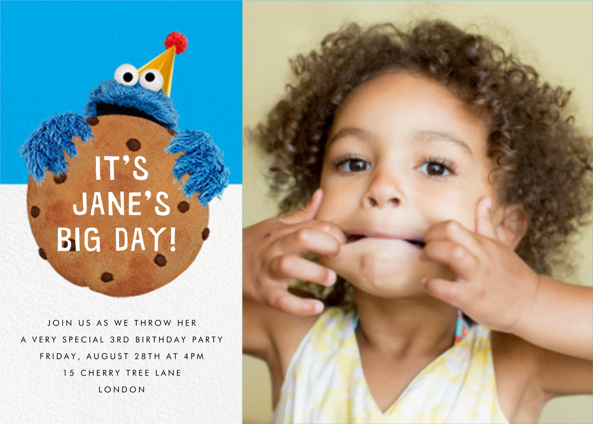 Monster Size Cookie Photo - Sesame Street - Kids' birthday