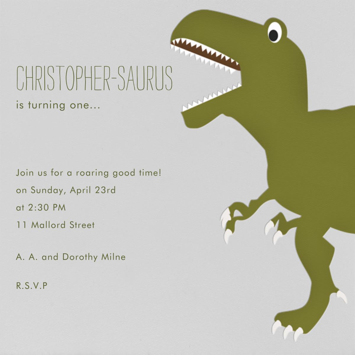 T-Rex - Paperless Post - Kids' birthday