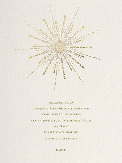 Ornate Fireworks (Cream) - Paperless Post
