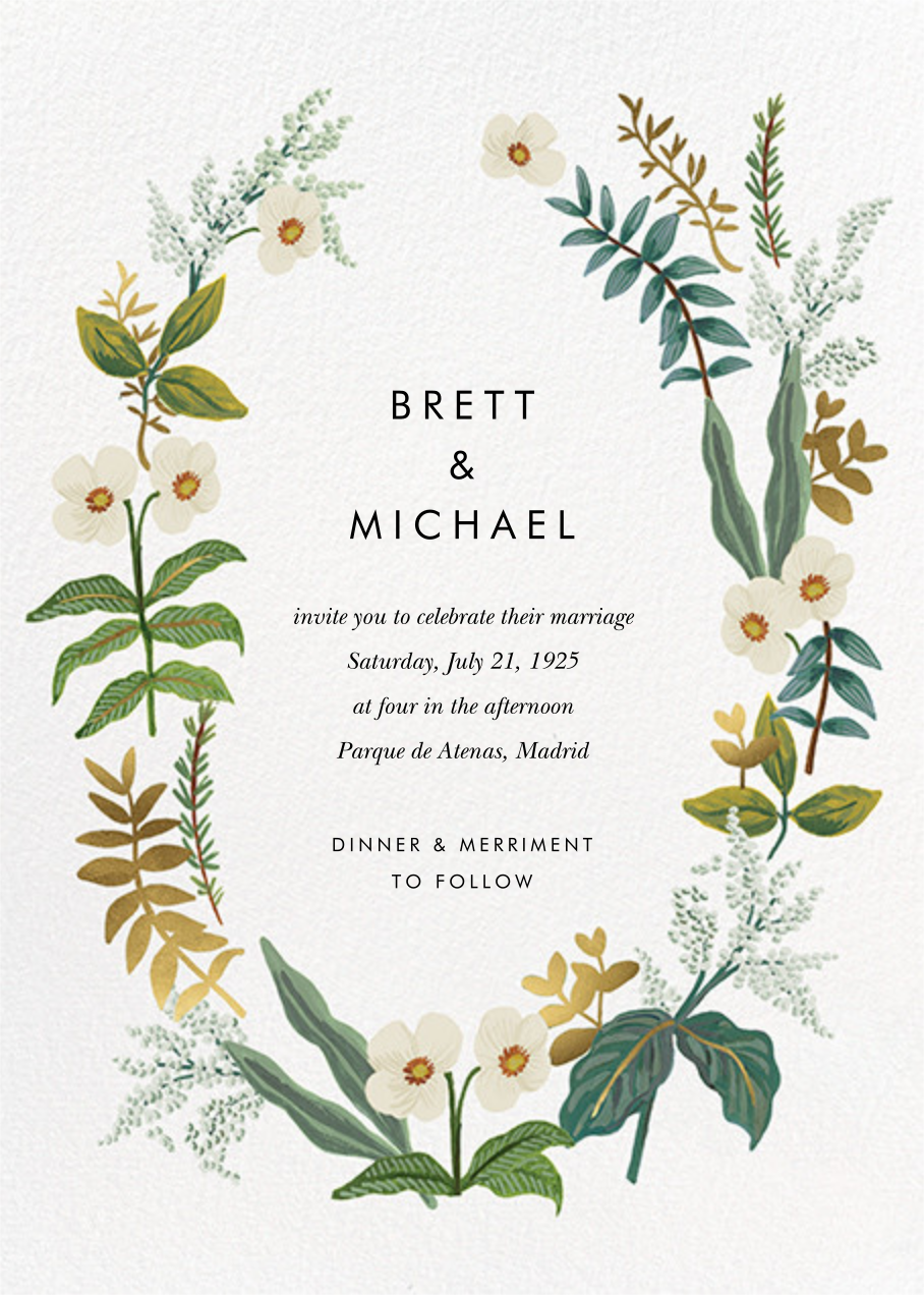 Meadow Garland (Invitation) - Rifle Paper Co. - All