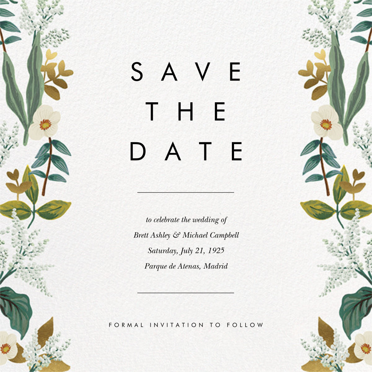 Meadow Garland (Square) - Rifle Paper Co. - Printable invitations