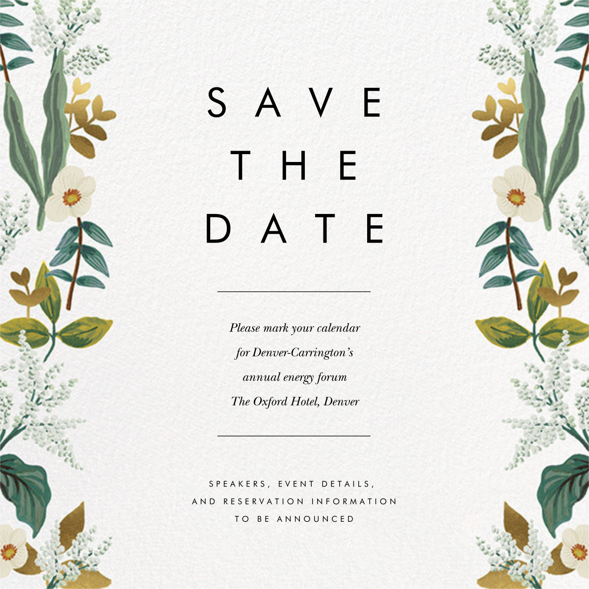Meadow Garland (Square) - Rifle Paper Co. - Party save the dates