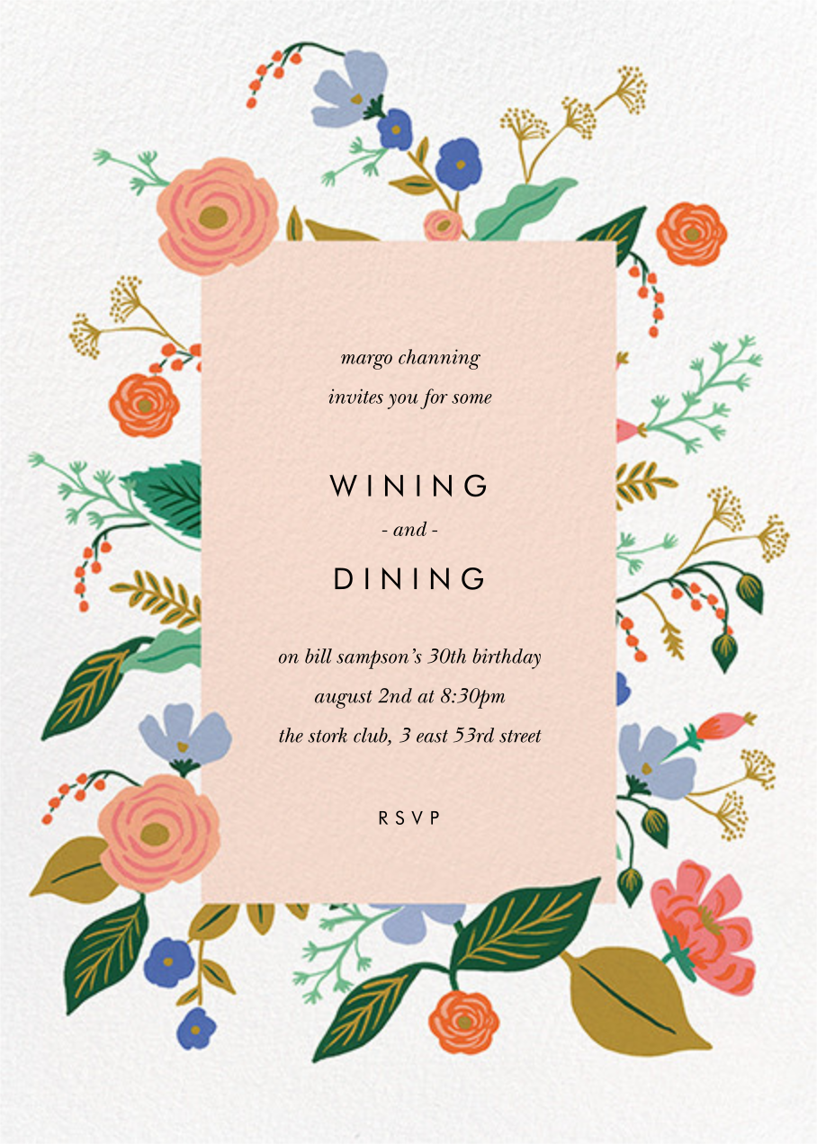 Pressed Wildflowers - Rifle Paper Co. - Adult birthday