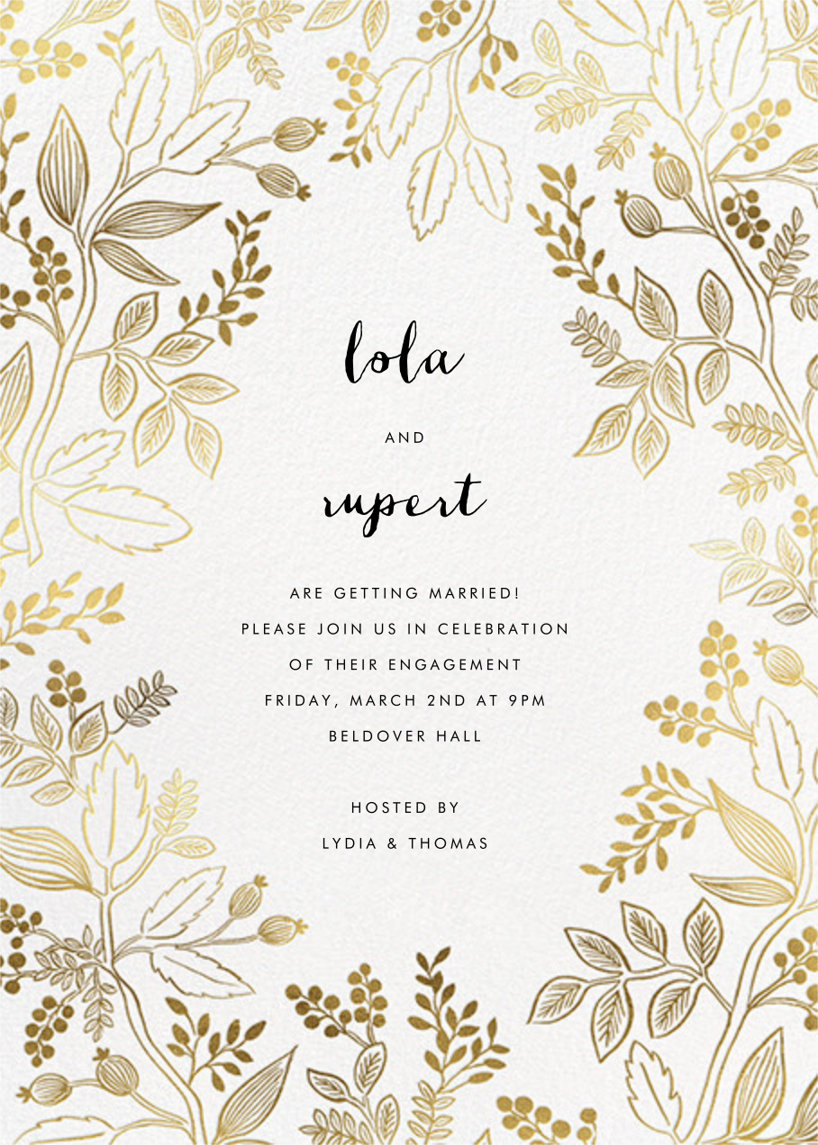 Queen Anne - Rifle Paper Co. - Engagement party