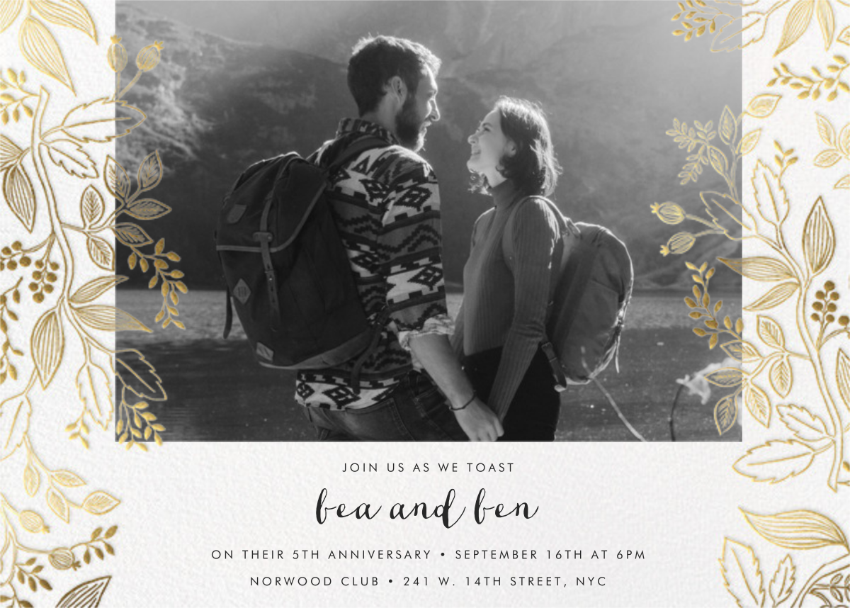 Queen Anne Photo (Horizontal) - Rifle Paper Co. - Anniversary party