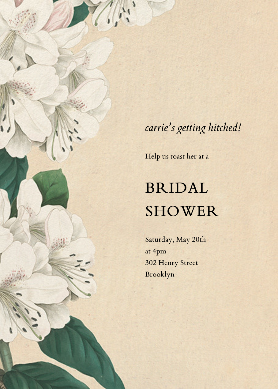 Campanulata - John Derian - Bridal shower