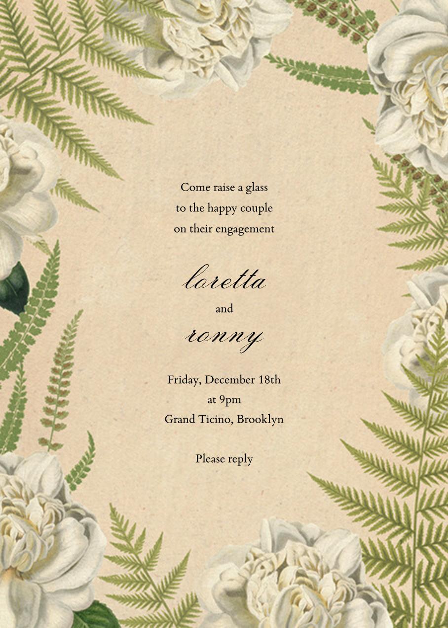 Fern Bouquet - John Derian - Engagement party