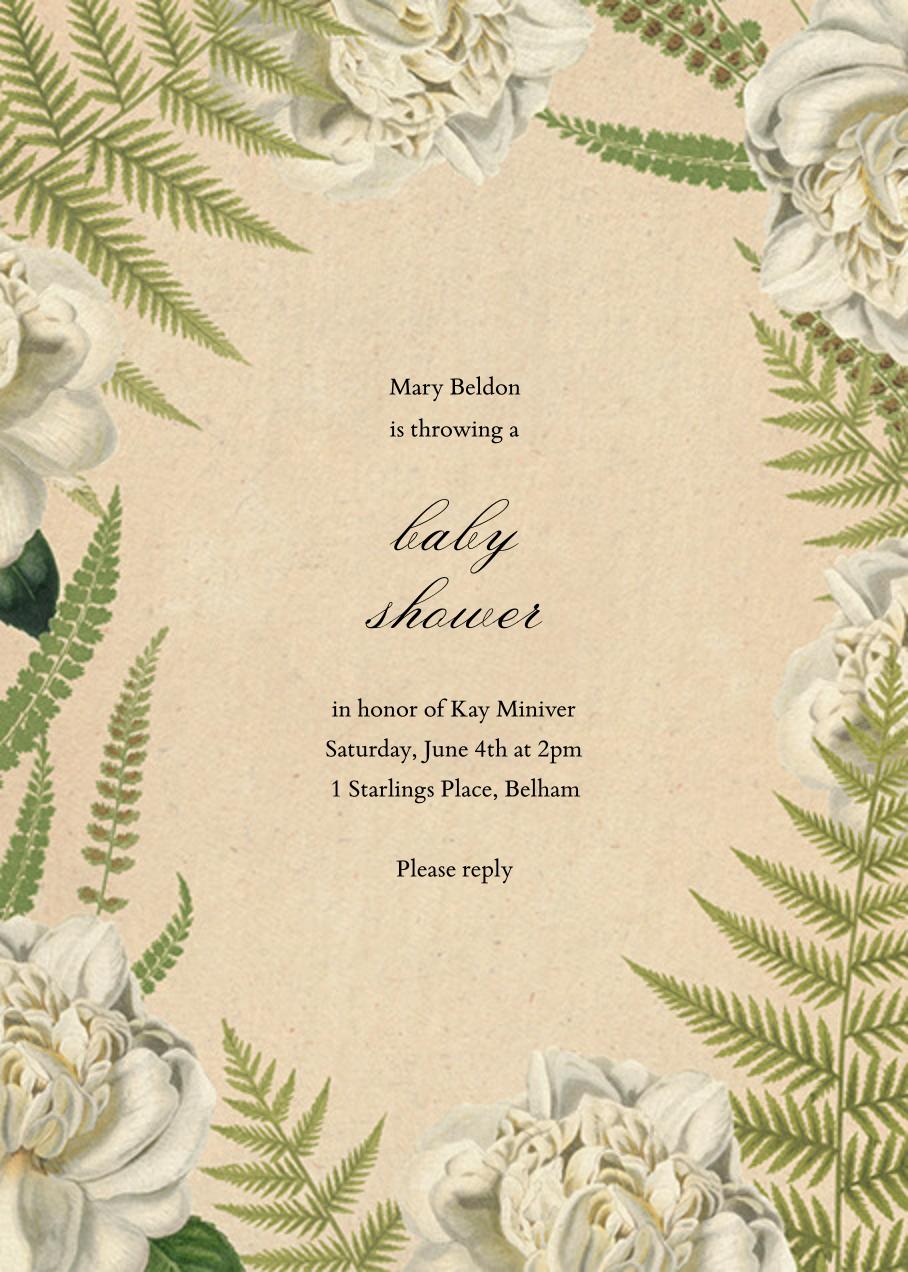 Fern Bouquet - John Derian - Baby shower